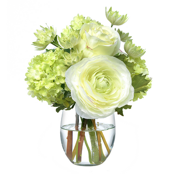 Diane James Small Green & White Bouquet