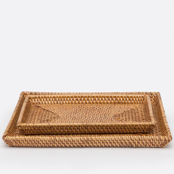 Pigeon & Poodle Dalton - Brown Rattan - Nested Trays