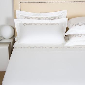 Frette Links Sheet Set - Beige/Grey