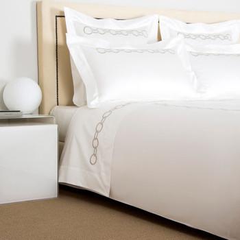 Frette Links Duvet Cover - Beige/Grey