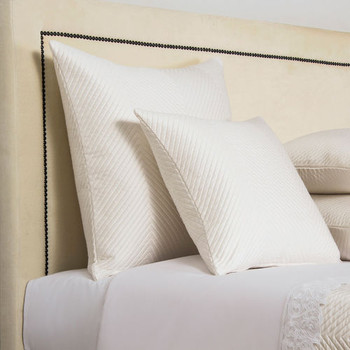 Frette Lux Herringbone Savage Decorative Pillow