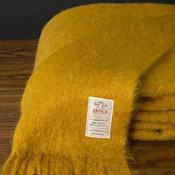 Avoca Amber Mohair Throw