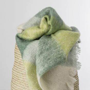Avoca Green Mohair Throw