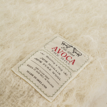 Avoca Cream Mohair Throw