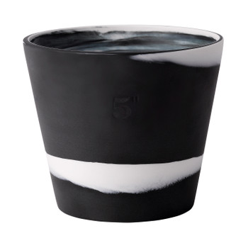 "Wedgwood Burlington Pot 5"" (Black & White)"