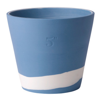 "Wedgwood Burlington Pot 5"" (Blue & White)"