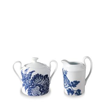 Caskata Acadia Blue Creamer & Sugar Bowl