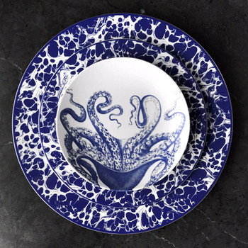 Caskata Blue Lucy Blue Canapes - Set of 4