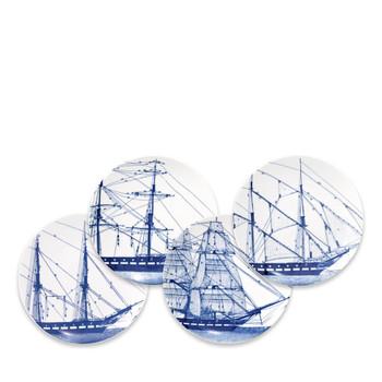 Caskata Rigging Blue Canapes Mixed - Set of 4