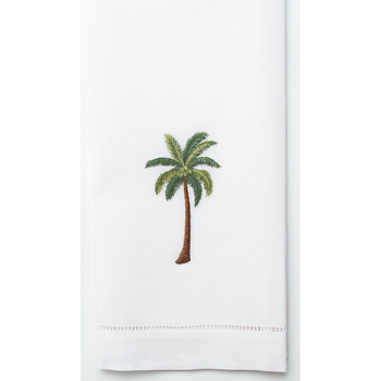 Henry Handwork Palm Tree Modern Cotton Guest Towel