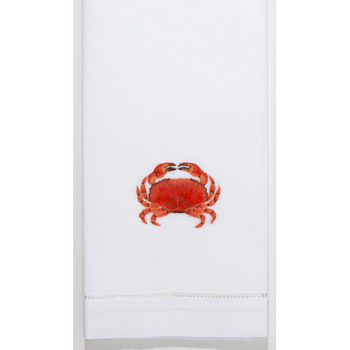Henry Handwork Crab Modern Cotton Guest Towel