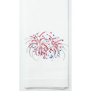 Henry Handwork Happy 4th Fireworks Cotton Guest Towel