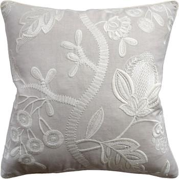 Ryan Studio Alladale Embroidered Cream Decorative Pillow
