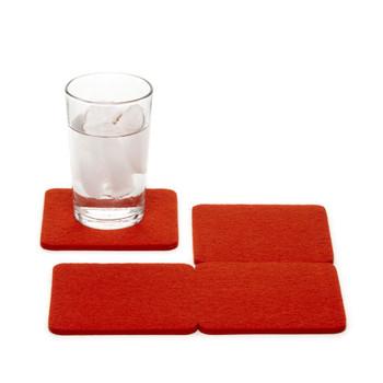 Graf Lantz Square Felt Coasters - 4-Pack