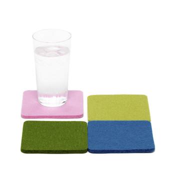Graf Lantz Square Felt Coasters - 4-Pack Multi