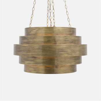 Made Goods Thyra Chandelier - Aged Gold Metal