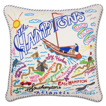 Catstudio Hamptons Hand-Embroidered Pillow