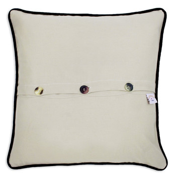 Catstudio London Hand-Embroidered Pillow