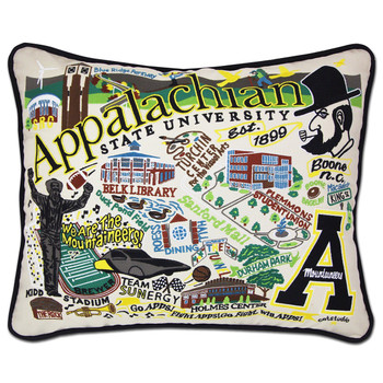 Catstudio Appalachian State University Collegiate Embroidered Pillow