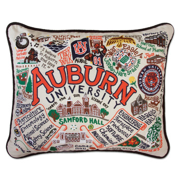 Catstudio Auburn University Collegiate Embroidered Pillow