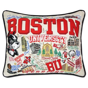 Catstudio Boston University Collegiate Embroidered Pillow