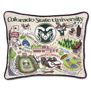 Catstudio Colorado State University Collegiate Embroidered Pillow