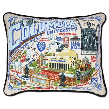 Catstudio Columbia University Collegiate Embroidered Pillow