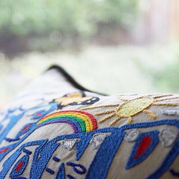 Catstudio Fire Island Hand-Embroidered Pillow