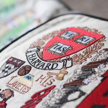 Catstudio Harvard University Collegiate Embroidered Pillow