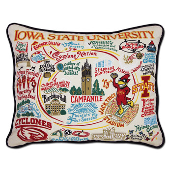 Catstudio Iowa State University Collegiate Embroidered Pillow