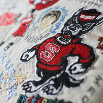 Catstudio North Carolina State University Collegiate Embroidered Pillow