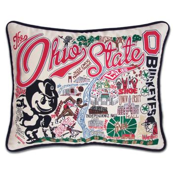 Catstudio Ohio State University Collegiate Embroidered Pillow