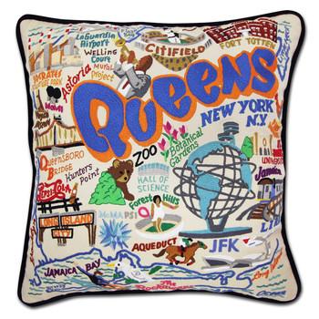 Catstudio Queens Hand-Embroidered Pillow