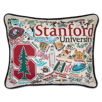 Catstudio Stanford University Collegiate Embroidered Pillow