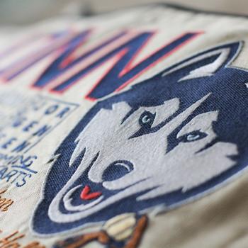 Catstudio Connecticut University of Collegiate Embroidered Pillow