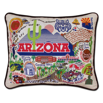 Catstudio Arizona University of Collegiate Embroidered Pillow