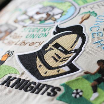 Catstudio Central Florida University of Collegiate Embroidered Pillow