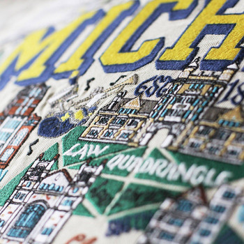 Catstudio Michigan University of Collegiate Embroidered Pillow