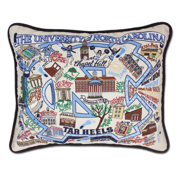 Catstudio North Carolina University of Collegiate Embroidered Pillow