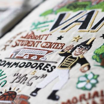 Catstudio Vanderbilt University Collegiate Embroidered Pillow