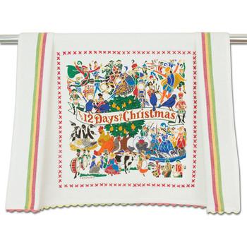 Catstudio 12 Days of Christmas Dish Towel