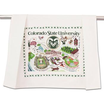 Catstudio Colorado State University Collegiate Dish Towel