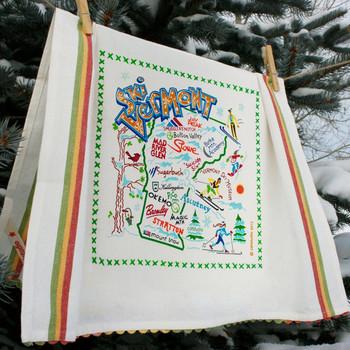 Catstudio Ski Vermont Dish Towel