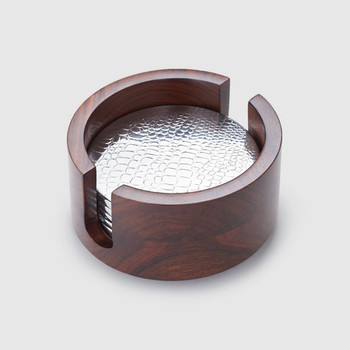 Mary Jurek Kenya Collection Rosewood Croc 6-Piece Coaster Set