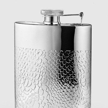 Mary Jurek Kenya Collection Hip Flask with Croc