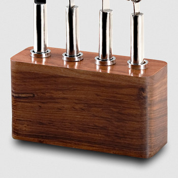 Mary Jurek Cosmo 4 Piece Bar Set with Wood Base