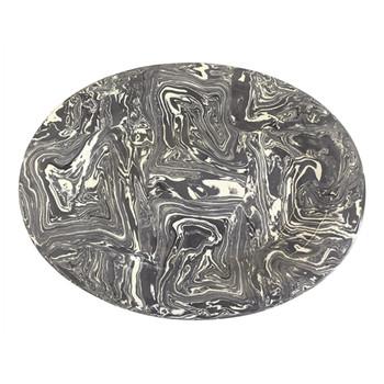 Mariposa Grey Marble Ceramic Platter