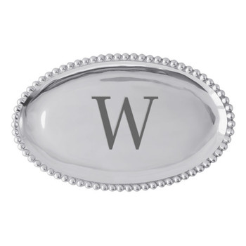Mariposa W Pearled Platter
