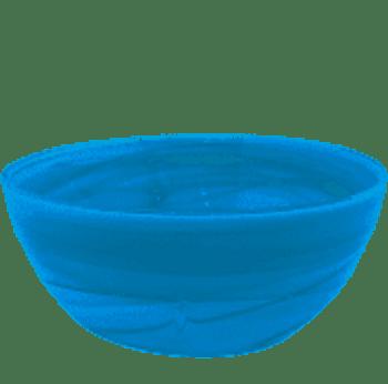 Mariposa Aqua Alabaster Salad Bowl