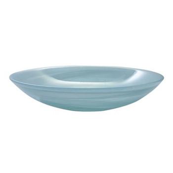 Mariposa Aqua Alabaster Serving Bowl